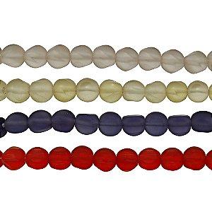 11-0023 - Fio de Contas de Vidro Fosco Colorido 9mm