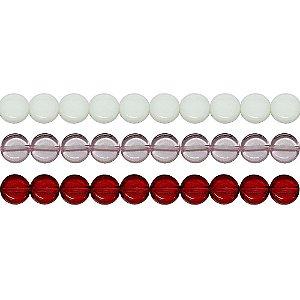 11-0021 - Fio de Discos de Vidro Coloridos com Passante 11mm