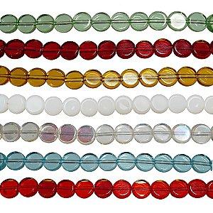 11-0020 - Fio de Discos de Vidro Coloridos com Passante 8mm