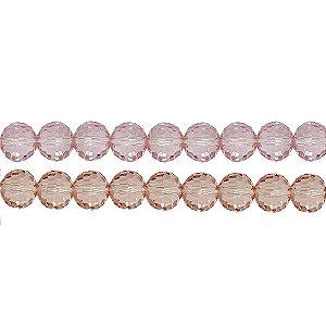 11-0018 - Fio de Bolas de Vidro Facetadas Coloridas 12mm