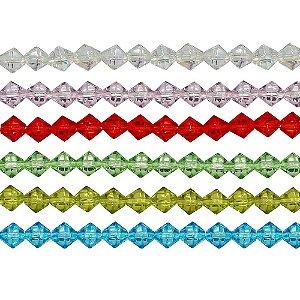 11-0000 - Fio de Balões de Vidro Colorido com Passante 8mm