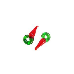 11-0153 - Pacote com 1000 Pimentas Vermelhas de Vidro M 22mmx10mm