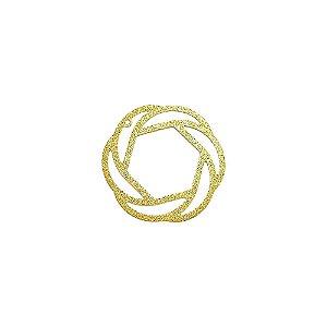 01-1580 - 1/2Kg de Estamparia Diamantada Redonda Vazada 30mm
