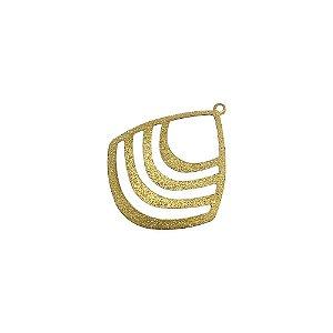 01-1633 - 1/2Kg de Estamparia Diamantada Pingente Gota Vazada 30mmx36mm
