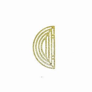 01-1870 - 1/2Kg de Estamparia Diamantada Vazada Meia Lua 33mm x 16mm