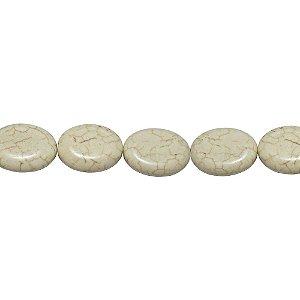 10-0002 - Fio de Pedras Marfim Ovais com Passante 15mmx12mm