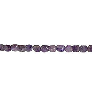 10-0092 - Fio de Pedras Quartzo Retangulares com Passante 10mmx14mm