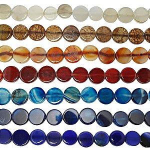 10-0114 - Fio de Pedras Ágata Redondas com Passante 16mm