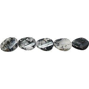 10-0117 - Fio de Pedras Ágata Irregulares com Passante 15mmx20mm
