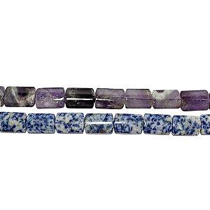 10-0120 - Fio de Pedras Quartzo Retangulares com Passante 14mmx20mm