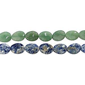 10-0125 - Fio de Pedras Quartzo Irregular com Passante 15mmx20mm