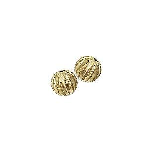 01-1874 - Pacote com 100 Bolas Diamantadas Riscas Verticais 10mm