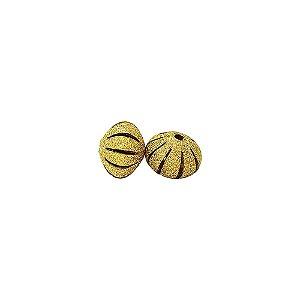 01-0798 - Pacote com 100 Bolas Diamantadas Achatadas com Recortes 12mm
