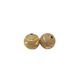 01-0804 - Pacote com 100 Bolas Diamantadas Entalhadas 12mm