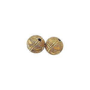 01-0807 - Pacote com 100 Bolas Diamantadas Riscas Verticais e Horizontais Entalhadas 12mm