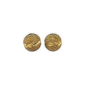 01-1444 - Pacote com 100 Bolas Diamantadas com Entalhes Florais Horizontais 12mm