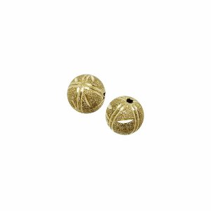 01-1466 - Pacote com 100 Bolas Diamantadas Riscas Verticais e Horizontais Entalhadas 10mm