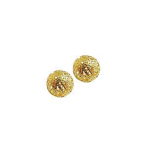 01-0120 - Pacote com 1000 Bolas em Latão Vazadas com Relevo 16mm