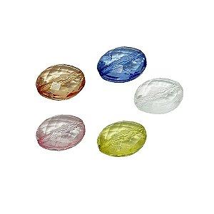 05-0180 - Pacote com 1 Kg de Acrílico Colorido Oval 10mmx14mm