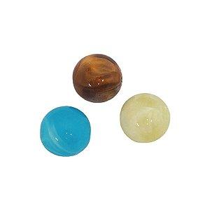 05-0219 - Pacote com 1 Kg de Acrílico Marmorizado Bola Lisa 14mm