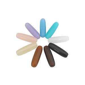 05-0271 - Pacote com 1 Kg de Acrílico Colorido Translúcido Tubo 40mmx12mm