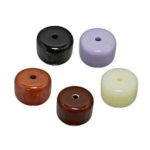 05-0288 - Pacote com 1 Kg de Acrílico Colorido Redondo com Furo Central 12mmx16mm