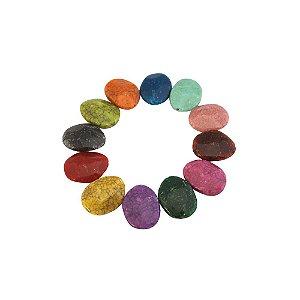 05-0894 - Pacote com 1Kg de Acrílico Redondo Imitação de Pedra 23mm