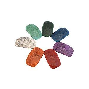 05-0897 - Pacote com 1Kg de Acrílico Retangular Imitação de Pedra 25mmx42mm
