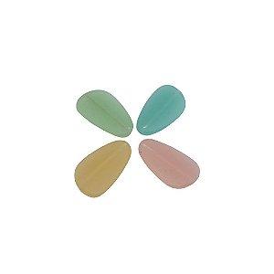 05-0939 - Pacote com 1 Kg de Acrílico Candy Color Oval com Passante 35mmx21mm