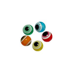 05-1026 - Pacote com 1000 Acrílicos Coloridos Olho Grego 8mm