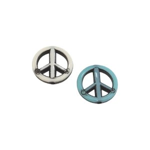 05-1112 - Pacote com 1 Kg de Acrílico Colorido Símbolo da Paz 20mm