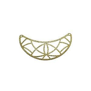01-2117 - 1/2Kg de Estamparia Diamantada Meia Lua com Recortes Geométricos 50mmx20mm