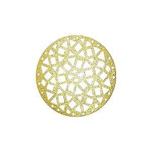 01-2125 - 1/2Kg de Estamparia Diamantada  Redonda com Recortes Geométricos Grande 45mm