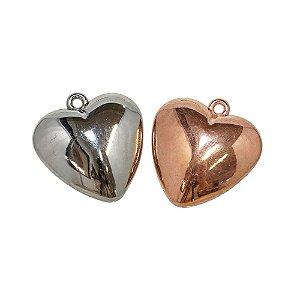 00-0021 - Pacote com 1 Kg de Pingente Coração em ABS 31mmx33mm