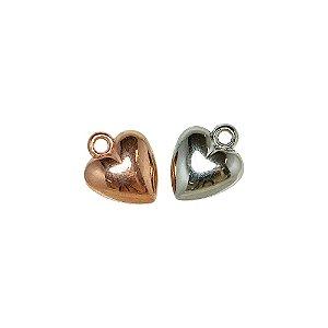 00-0272 - Pacote com 1 Kg de Pingente Coração em ABS 17mmx20mm