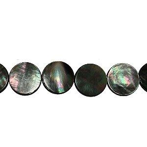 12-0121 - Fio de Madrepérolas Negras Redondas 20mm