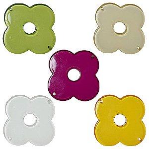 05-0869 - Pacote com 100 Flores de AcrÍlico 43mm