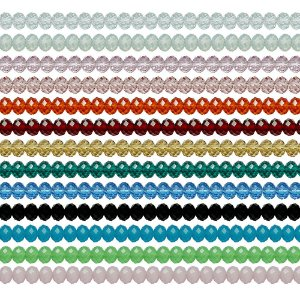 11-0087 - Pacote com 100 Discos de Vidro Facetados 6mmx8mm