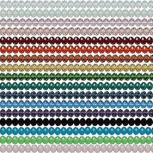 11-0088 - Pacote com 100 Discos de Vidro Facetados 8mmx10mm