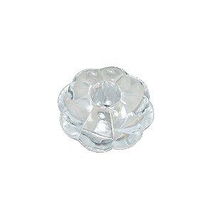 05-1092 - Pacote com 1 kg de Acrilico Pitanga Cristal Grande 40mm