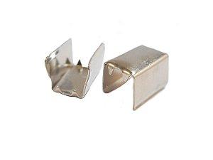 01-0034 Pacote com 1000 Terminais em Latão Acabamento Níquel 10mm x 6mm