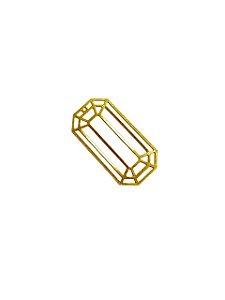 01-2400 1/2kg de Estamparia Lixada Retangular em Latão G 39mm x 20mm