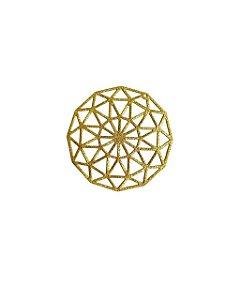 01-2431 1/2kg de Estamparia Mandala Diamantada em Latão G 43mm