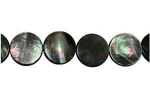 12-0120 - Fio de Madrepérolas Negras Redondas 16mm