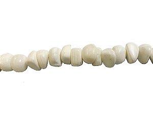 12-0007 - Fio de Madrepérola Marfim Irregular