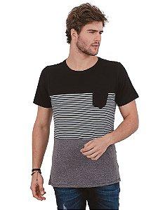 Camiseta Recorte Listras