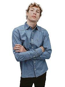 Camisa Jeans Medium Blue