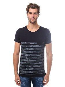 Camiseta Listras Camuflado