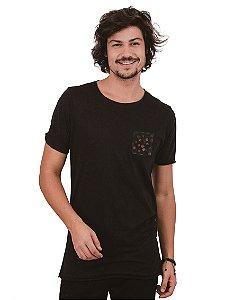 Camiseta Bolso Roseira Mini Preto