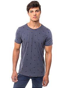 Camiseta Fullprint Galhinhos Cinza
